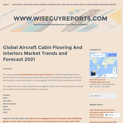 Global Aircraft Cabin Flooring And Interiors Market Trends and Forecast 2021 – www.wiseguyreports.com