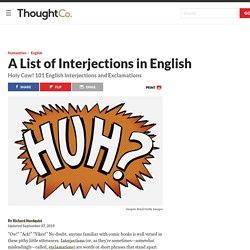 A List of Interjections and Exclamations in English
