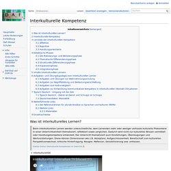 Interkulturelle Kompetenz – DaF-Wiki