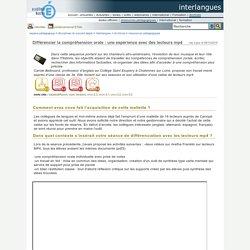 interlangues - Différencier la compréhension orale : une expérience avec des lecteurs mp4