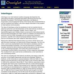 Interlingua language, alphabet and pronunciation