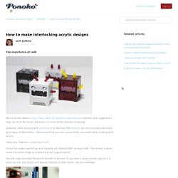How to make interlocking acrylic designs – Ponoko Community Hub