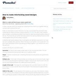 How to make interlocking wood designs – Ponoko Community Hub