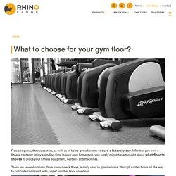 Interlocking PVC tiles for gym floor