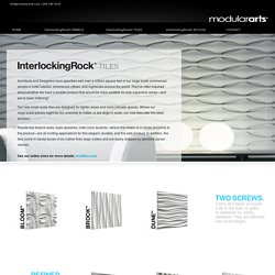 InterlockingRock® TILES for Small Scale Walls