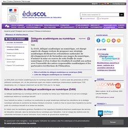 Réseaux et interlocuteurs - Délégués académiques au numérique (DAN)