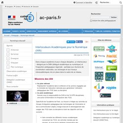 Interlocuteurs Académiques pour le Numérique (IAN)