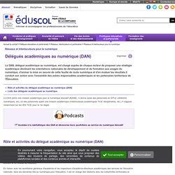 Délégués académiques au numérique (DAN)
