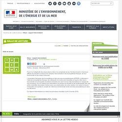 L'évaluation française des écosystèmes et des services écosystémiques (EFESE): rapport intermédiaire - 16/12/16