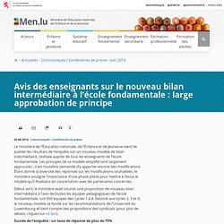 Avis des enseignants sur le nouveau bilan intermédiaire à l'école fondamentale : large approbation de principe - Éducation nationale / Enfance / Jeunesse / Luxembourg