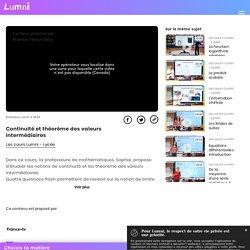 Continuité et théorème des valeurs intermédiaires - Vidéo Spécialités