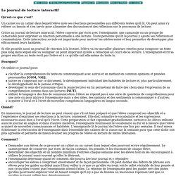 Fran ais en immersion: Interm diare: Le journal de lecture interactif