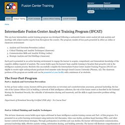 Intermediate Fusion Center Analyst Training Program (IFCAT) | Fusion Center Training
