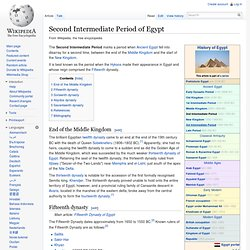 Second Intermediate Period of Egypt