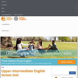 Upper-Intermediate English tenses test
