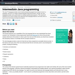 Intermediate Java programming