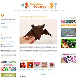 Intermediate origami bat for Halloween | How About Orange