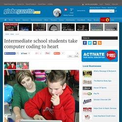 Intermediate school students take computer coding to heart