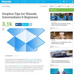 From Dropbox Gurus: Ideas for Beginners, Intermediates and Wizards