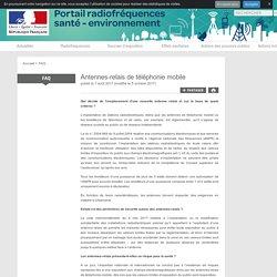 Antennes-relais de téléphonie mobile - Portail interministériel d'information sur les radiofréquences