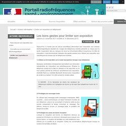 Les bons gestes pour limiter son exposition - Portail interministériel d'information sur les radiofréquences