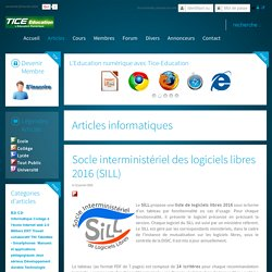 Socle interministériel des logiciels libres 2016 (SILL)