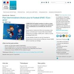 """Plan Interministériel d'Action pour le Football (PIAF) """"Euro 2016"""""""