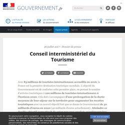 Conseil Interministériel du Tourisme