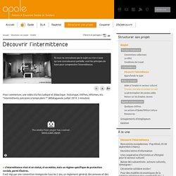 Découvrir l'intermittence - Association Opale
