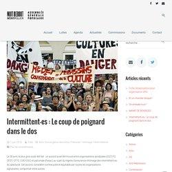 Intermittent-es : Le coup de poignard dans le dos - NuitDebout Montpellier