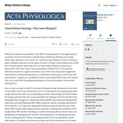 Intermittent fasting—The new lifestyle? - Khedkar - 2020 - Acta Physiologica