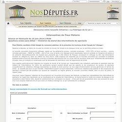 Intervention de Fleur Pellerin Séance en hémicycle du 10 juin 2014