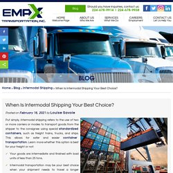 When Is Intermodal Shipping Your Best Choice?