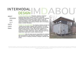 InterModal Design - Shipping Container Design - About