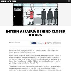 Kill Screen - Intern Affairs