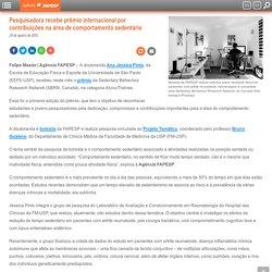 Pesquisadora recebe prêmio internacional por contribuições na área de comportamento sedentário