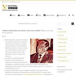 """1003 Premio Internacional de Cuentos """"Juan Ruiz de Torres"""" 2021"""