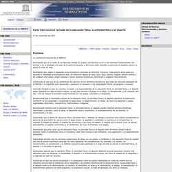 Carta internacional revisada de la educación física, la actividad física y el deporte