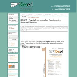 RIESED - Revista Internacional de Estudios sobre Sistemas Educativos