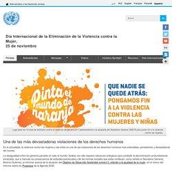 Día Internacional de la Eliminación de la Violencia contra la Mujer,<br>25 de noviembre