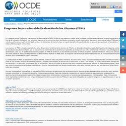 Programa Internacional de Evaluación de los Alumnos (PISA)