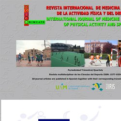 Revista Internacional de Medicina y Ciencias de la Actividad Física y del Deporte International Journal of Medicine and Science of Physical Activity and Sport