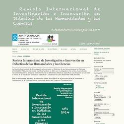 Revista Internacional de Investigación e Innovación en Didáctica de las Humanidades y las Ciencias