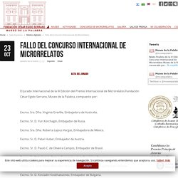 Fallo del Concurso Internacional de Microrrelatos - Actividades que fomentan la comunicación entre culturas