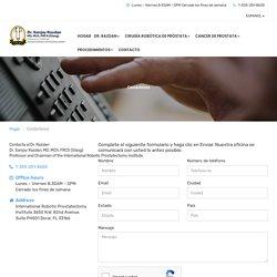 Contactar con el Instituto Internacional de Prostatectomía Robótica