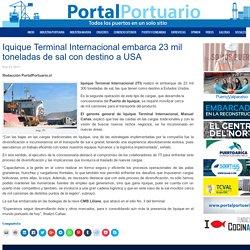 Iquique Terminal Internacional embarca 23 mil toneladas de sal con destino a USA - Portal Portuario