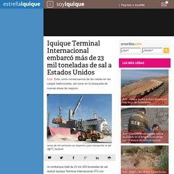 Iquique Terminal Internacional embarcó más de 23 mil toneladas de sal a Estados Unidos