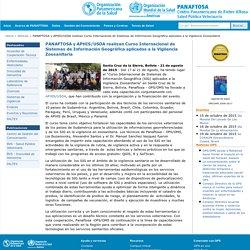 PANAFTOSA y APHIS/USDA realizan Curso Internacional de Sistemas de Información Geográfica aplicados a la Vigilancia Zoosanitaria