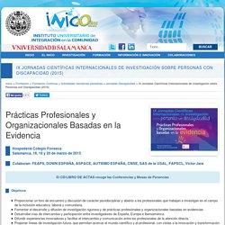 IX Jornadas Científicas Internacionales de Investigación sobre Personas con Discapacidad (2015)