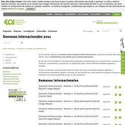 semanas internacionales - EOI - Escuela de Organización Industri